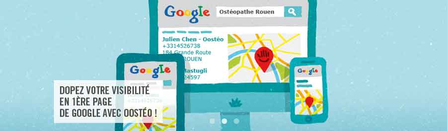 Creation de sites web pour osteopathe